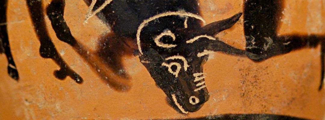 Der kretische Stier mit Herakles